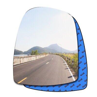 Left Passenger Side Convex Wing Door Mirror Glass for VAUXHALL VIVARO 2001-2013