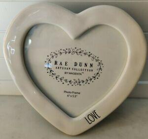 Rae Dunn white love Heart Frame Ceramic New