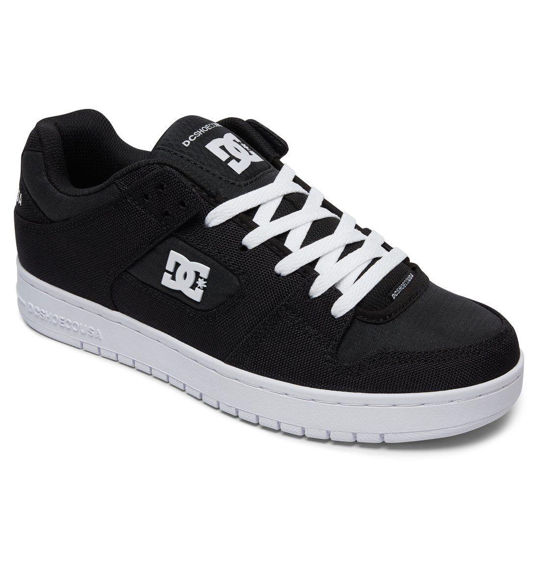 hommes DC MANTECA TX SE SKATEBOARDING Chaussures NIB noir blanc (BKW)