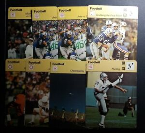 1978-1979-SPORTSCASTER-FOOTBALL-4-75X6-25-LOT-OF-8-CARDS
