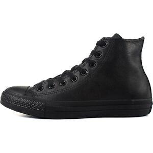 cdf726ed4c0b44 Converse Chuck Taylor All Star Hi 135251C Black Monochrome Leather ...