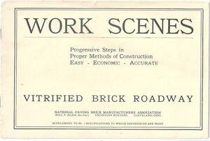 Work Scenes, Progressive Steps in Proper Methods of Construction ~ Brick c1915