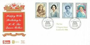 GB FDC 4 Aug 1990 Queen Mother's 90th Birthday - City of Westminster Cancel OD0