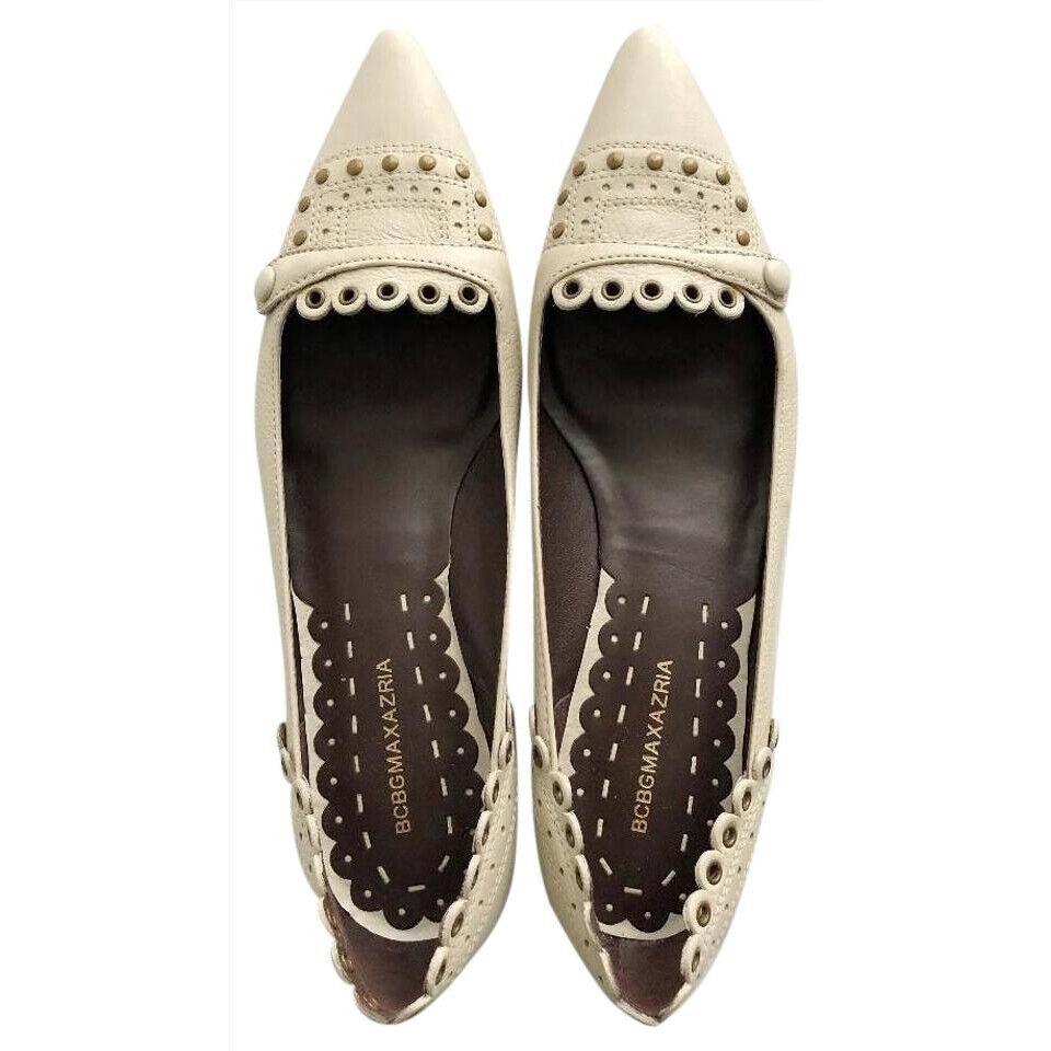 profitto zero BCBGMAXAZRIA STUDDED BONE SLIDES SLIP-ON SLIP-ON SLIP-ON FLATS HEEL PUMP scarpe 7  negozio online