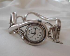 Vintage-Zaria-Russian-Sterling-Silver-Watch-17-Jewels-USSR-Zarya-Signed-KLL