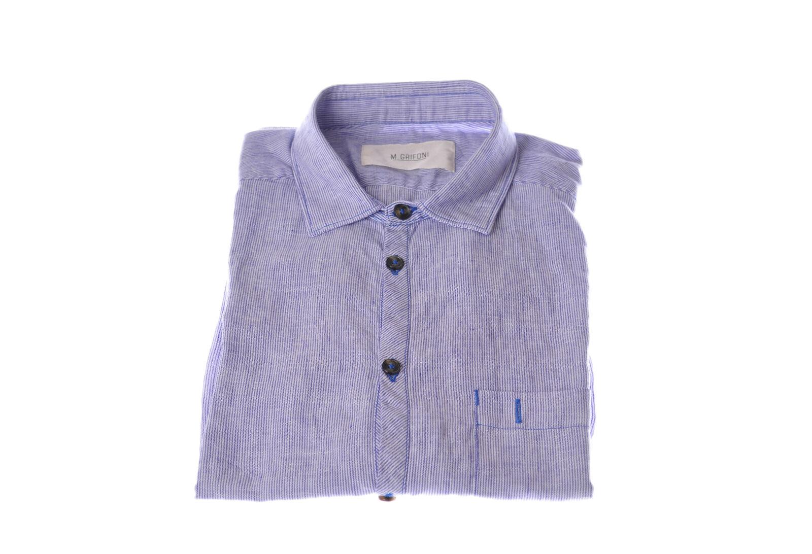 Mauro grifoni  -  Shirt - Male - Blau - 2990304A184530