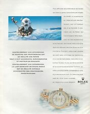 ▬► PUBLICITE ADVERTISING AD MONTRE WATCH ROLEX Oyster Perpetual Date Just 1998