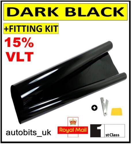 CAR WINDOW TINT FILM TINTING DARK BLACK  SMOKE 15/% 76cm x 6M NEW