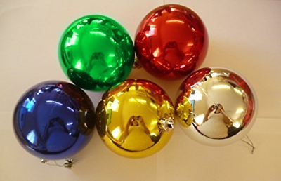 10 Extra-large 100mm Colori Assortiti Christmas Baubles-