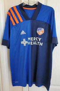 Details about Adidas FC Cincinnati Soccer Jersey Mens XXL New NWT blue orange $90 MLS 2XL