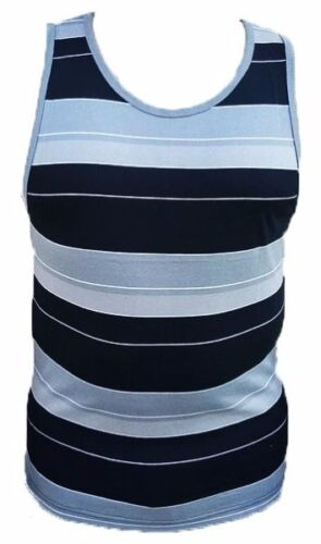 Yago Mens Striped Tank Top Shirt Casual Tee