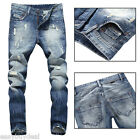 Stylish Men's Ripped Designed Straight Slim Fit Jeans Pants Demin Jean Trousers