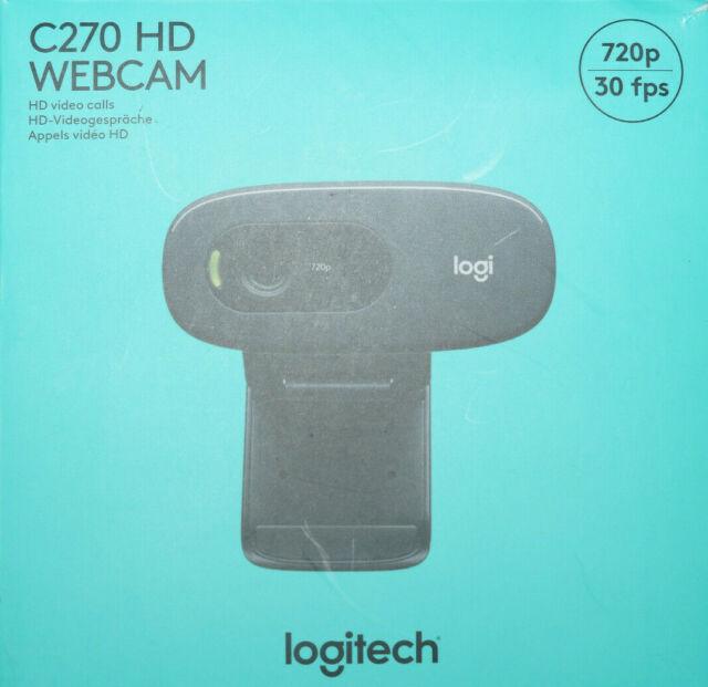 Logitech C270 HD-Webcam - Schwarz (960-001063)