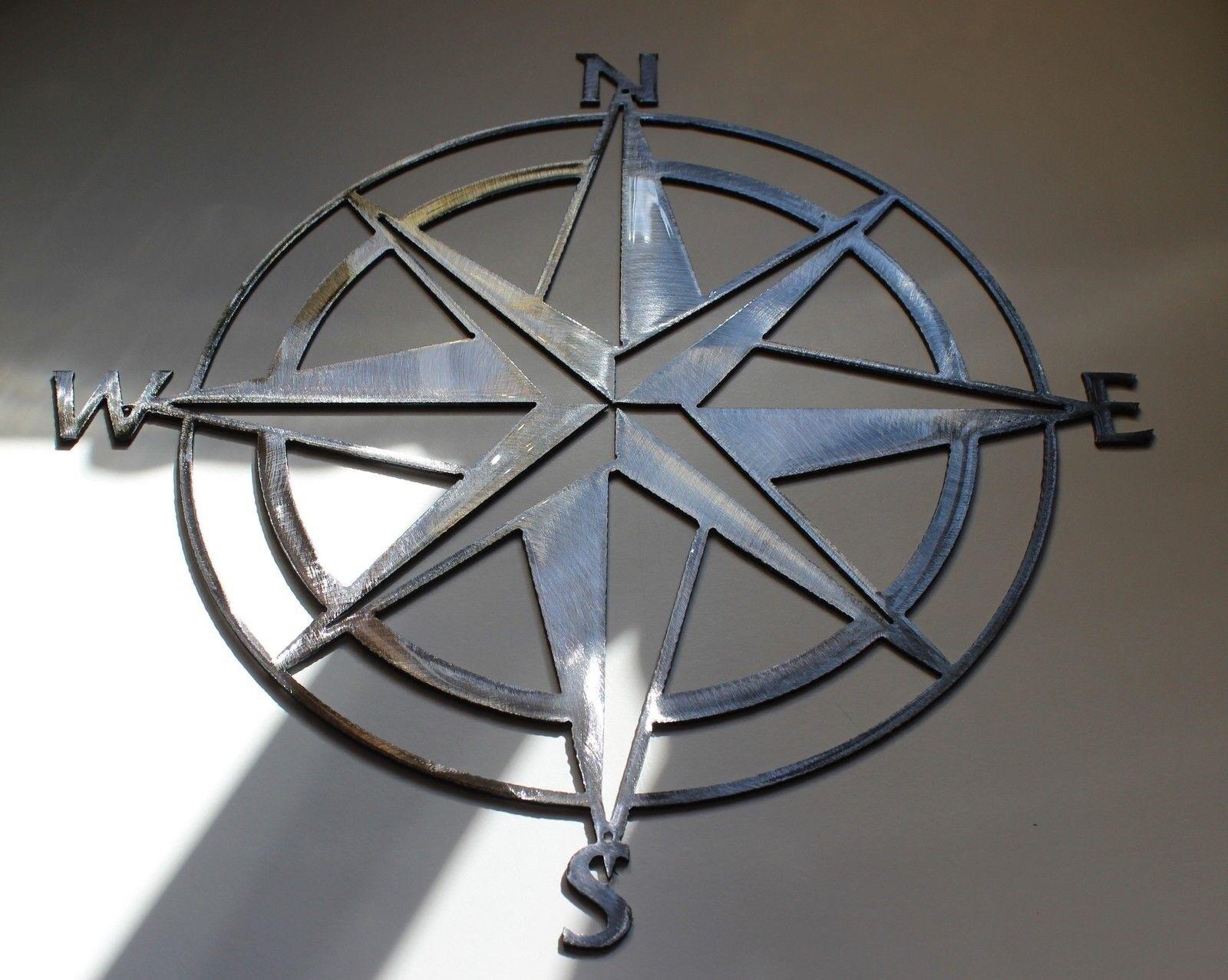 Nautisch Nautisch Nautisch Zirkel Rosa 26   Wandkunst Dekor Silber Fassung | Sonderangebot  b0b509