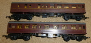 2-Jouef-HO-Gauge-BR-MK1-Maroon-Coaches
