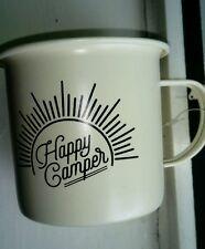HAPPY CAMPER ENAMEL METAL MUG NEW NEXT DAY DISPATCH*