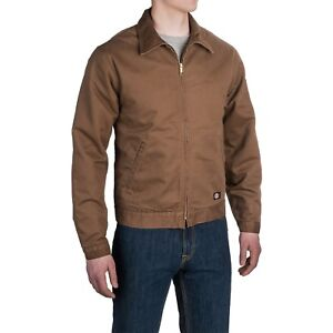DICKIES-INSULATED-CANVAS-JACKET-Brown-Mens-3XL-amp-4XL-NEW