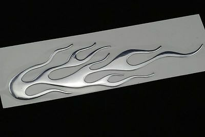 3D Chrom Auto Demon Aufkleber Flamme Emblem Silber Farbe Neu