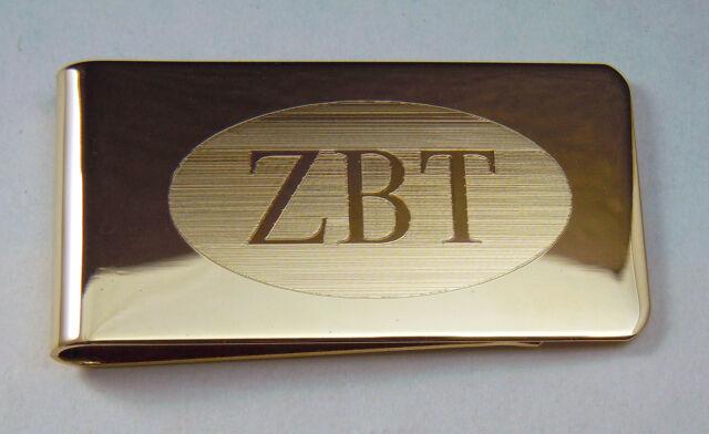 Zeta Beta Tau, ΖΒΤ, Money Clip Greek Letter in Brass By McCartney