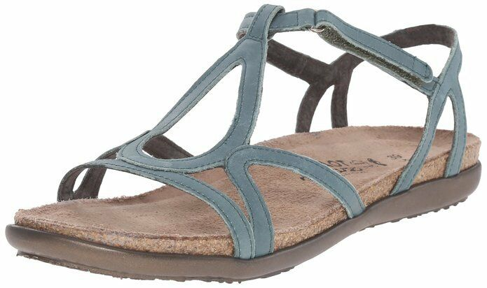 Woman's Sea Green Naot  Dorith  9380 Gladiator Leather Sandals Size 5 US 36 EU