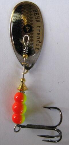 Stk. Trendex Spinner Cyber Spin Behr silber mit Schuppendekor 5-15g Preise p