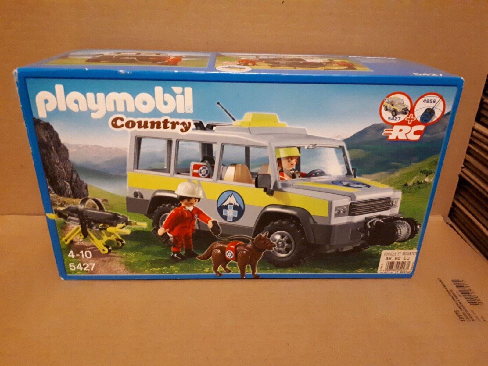 Playmobil 5427 Véhicule avec Secouristes de Montagne NEUF et SCELLE