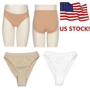US-Girls-Kids-Seamless-Briefs-Underwear-Underpants-for-Ballet-Dance-Gymnastics