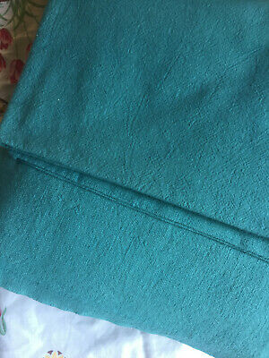 """Vintage Full Feed Sack Lovely Teal Blue  approx 38/"""" x 36/"""""""