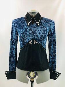 Grand Western Show Pleasure Rail Veste Chemise Vêtements spectacle Horsemanship