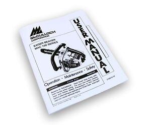 mcculloch eager beaver mac 100 110 series chainsaw operators manual rh ebay com McCulloch Carburetor McCulloch Mac 3200 Chainsaw Manual
