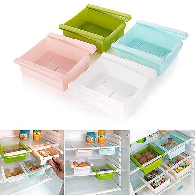 Kitchen Slide Fridge Freezer Space Saver Organizer Storage Rack Shelf Holder