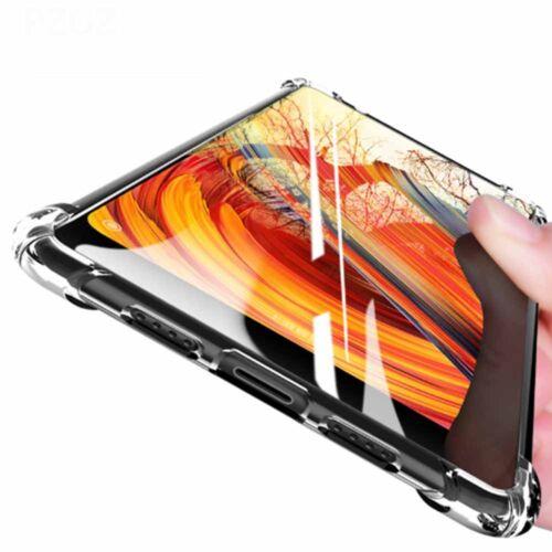 Fundas de teléfono de silicona de goma a prueba de polvo cubierta transparente para Xiaomi MIX 2S