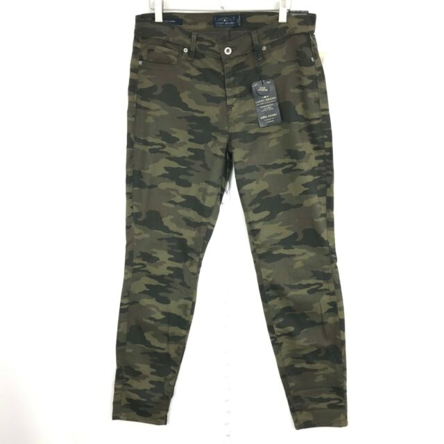 Lucky Brand Women Jeans Sofia Skinny Curvy Fit Mid Rise Camo Size 12 Inseam 29