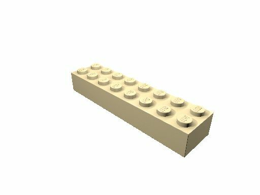 4 x [neu] LEGO Baustein 2 x 8 - beige - 3007