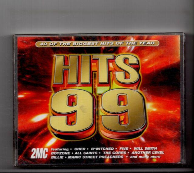(JV657) Hits 99, 40 tracks various artists - 1998 Music Cassettes