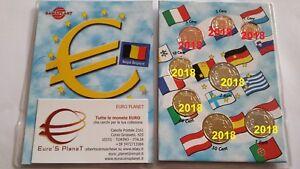 2018 BELGIO 8 monete 3,88 EURO fdc belgique belgien belgica belgie Бельгия