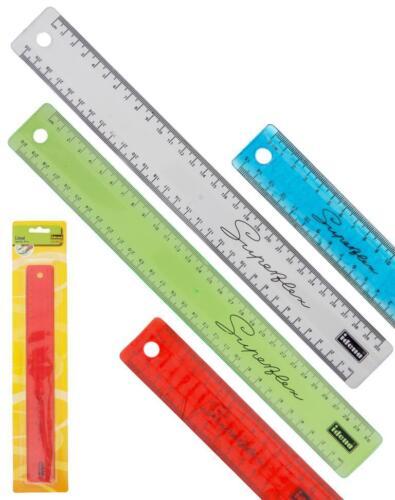 türkis klar 4x Superflex-Lineal 30cm biegsam bruchsicher // Farbe: 1x gelb rot