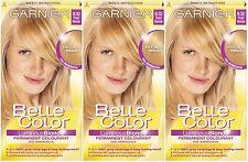 3 x Garnier Belle Color 9.32 Pearl Blonde - Permanent Hair Colourant Dye