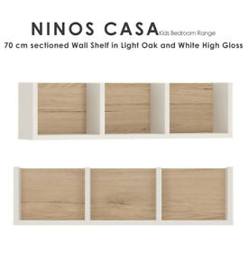 Ninos-Casa-70-cm-Sectioned-Wall-Shelf-in-Oak-and-White-Gloss-Kids-Baby-Bedroom