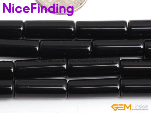 """4x12mm Natural Column Tube Gemstone Beads For Jewellery Making 15/"""" Free Shipping"""