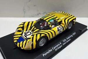 Collection Ici Fly A-1503 88201 Porsche Carrera 6 12 H Sebring 1967 Hugus-cannon Entièrement Neuf Dans Sa Boîte-afficher Le Titre D'origine