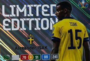 Panini-Euro-2020-limited-Edition-Alexander-Isak-normal-Size-Schweden-Sweden