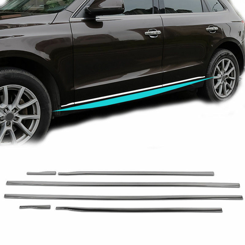 For Audi Q5 2009-2017 Stainless Steel Side Door Body Molding Cover Trim
