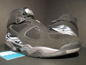 size 40 93dda e7777 Image is loading NIKE-AIR-JORDAN-VIII-8-RETRO-BLACK-WHITE-