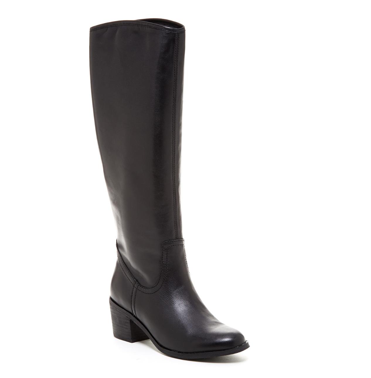 Sam Edelman Loren Leather Boot Black Women Sz 7 M 5783 *