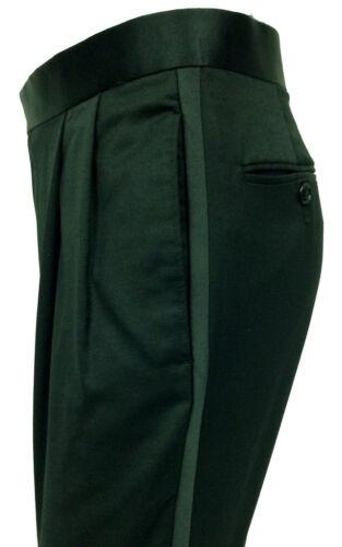 Pantaloni lana smoking alta nera 100 100 di pettinata in lana da al qualità rwqPYr