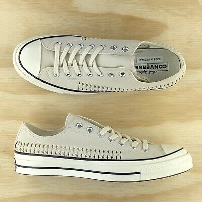 Converse Chuck Taylor All Star 70 White Beige Weave Low Top Shoes 164593C Size | eBay