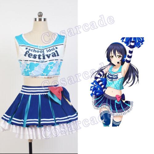 Cheerleader Sonoda Umi Cosplay Uniform Costume Outfit Dress Cheering Love Live