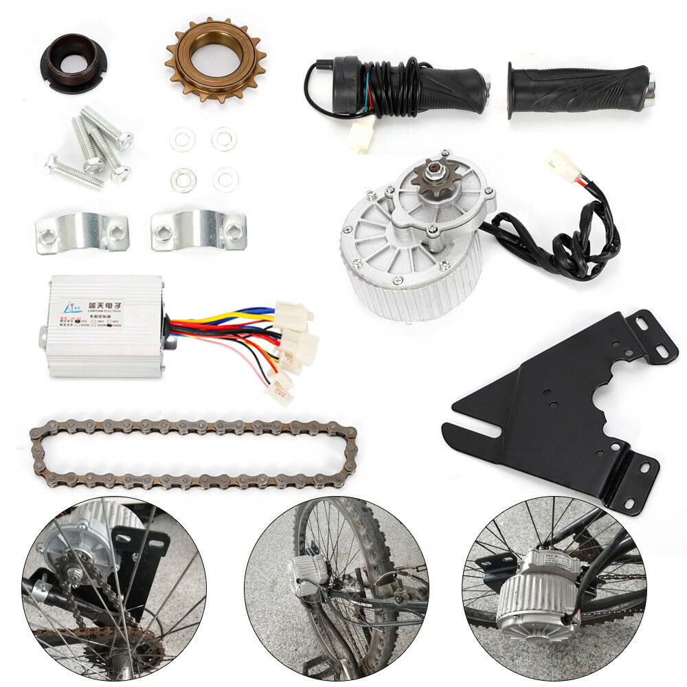24V 36V  450W Electric Left Chain Drive Conversion Kit High Speed Suit  save 60% discount and fast shipping worldwide