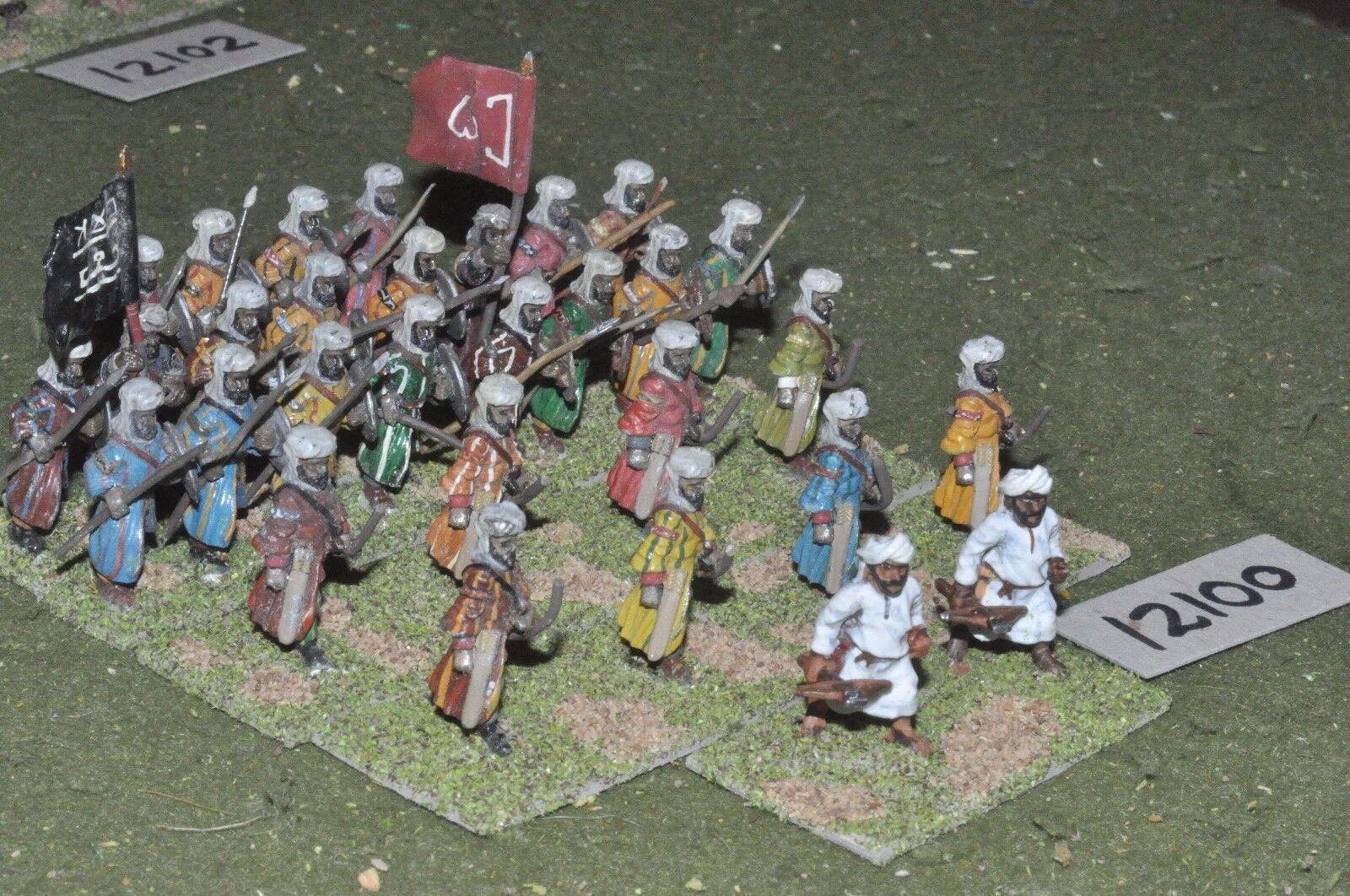 25mm medeltida   saracen - infanteri 30 figs - info (12100)